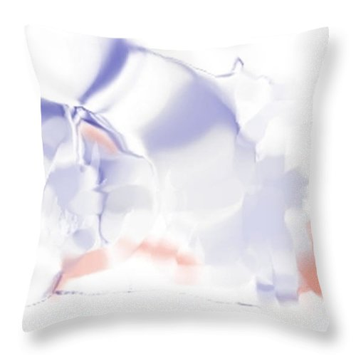 Ethereal Throw Pillow featuring the digital art Ethereal by Ron Bissett