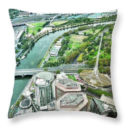 Eureka Skydeck Throw Pillow featuring the photograph Eureka Skydeck View I V by Kirsten Giving