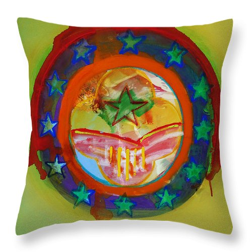 Throw Pillow featuring the painting European Union by Charles Stuart