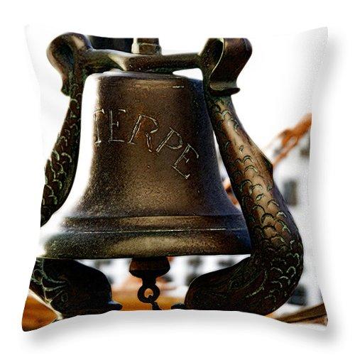 Euterpe Throw Pillow featuring the photograph Euterpe Bell by Linda Shafer