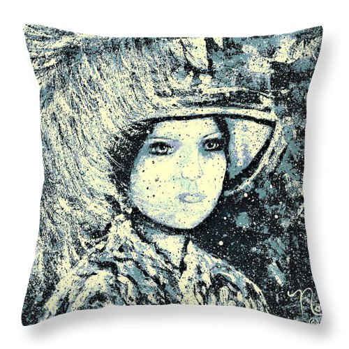 Woman Throw Pillow featuring the painting Evalina by Natalie Holland