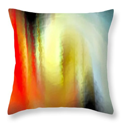 Abstract Throw Pillow featuring the digital art Evanescent Emotions by Gwyn Newcombe