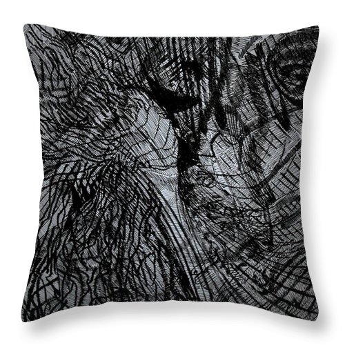 Love Throw Pillow featuring the drawing Even God Falls In Love by Gloria Ssali
