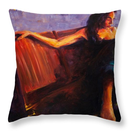 Figure Throw Pillow featuring the painting Even Though by Jason Reinhardt