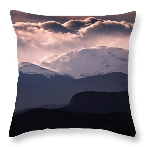 Evening Throw Pillow featuring the photograph Evening At Evans by Brian Gustafson