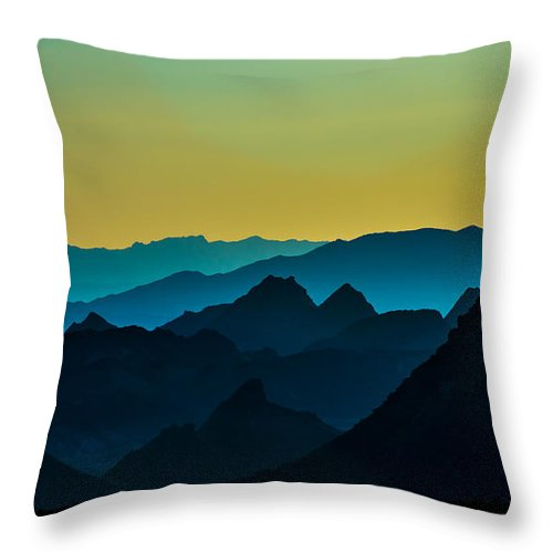 Mountains Throw Pillow featuring the photograph Evening At Lake Mead by Stephen Whalen
