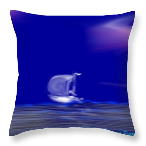 Evening Throw Pillow featuring the digital art Evening by Dr Loifer Vladimir