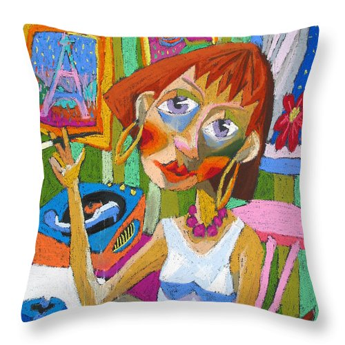 Pastel Throw Pillow featuring the painting Evening Dream by Yuriy Shevchuk