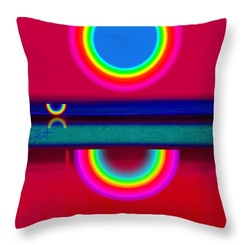 Reflections Throw Pillow featuring the painting Evening Heat by Charles Stuart