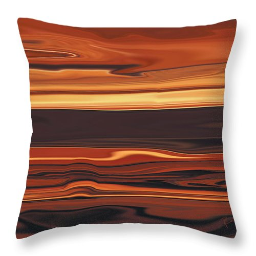 Abstract Throw Pillow featuring the digital art Evening In Ottawa Valley 1 by Rabi Khan
