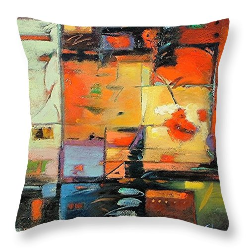 Abstract Painting Throw Pillow featuring the painting Evening Light by Gary Coleman