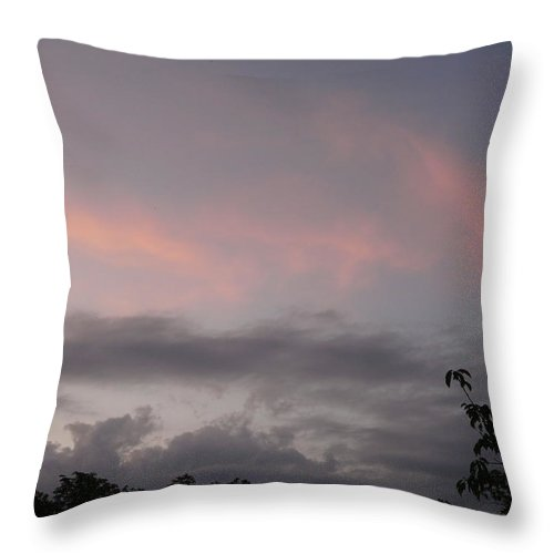 Sky Throw Pillow featuring the photograph Evening Sky by Valerie Ornstein
