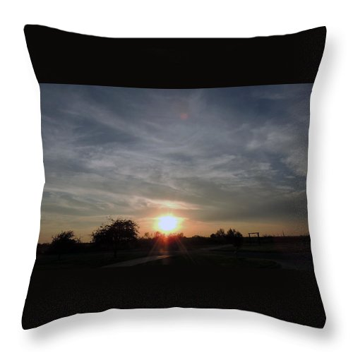 Throw Pillow featuring the photograph Evening Sunset by Chris Patel