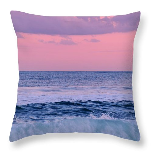 Jersey Shore Throw Pillow featuring the photograph Evening Waves 2 - Jersey Shore by Angie Tirado