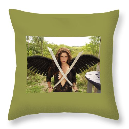 Everglades City Photographer Everglades City Glamour Everglades City Beauty Everglades City Photographer Lucky Cole Angels Sexy Exotic Natural Beauty Glamorous Environmental Portraits Female Natural Settings Exotic Beauty Wildlife Throw Pillow featuring the photograph Everglades City Glamour 172 by Lucky Cole