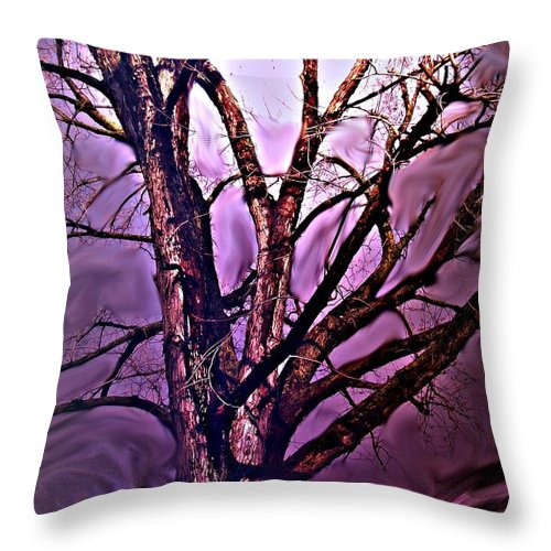 Woods Throw Pillow featuring the digital art Everlasting 2 by Crystal Webb