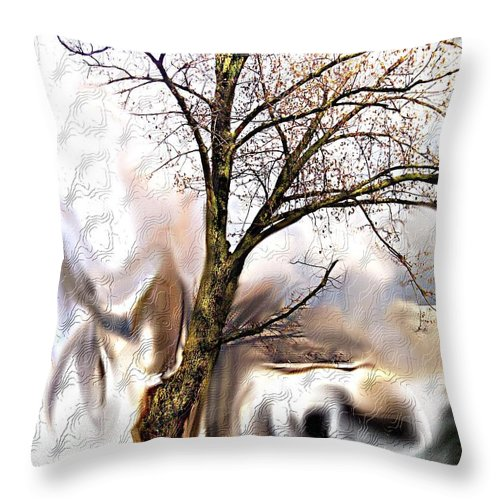 Landscape Throw Pillow featuring the digital art Everlasting by Crystal Webb