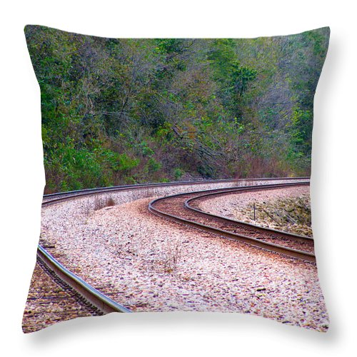 Ahead Throw Pillow featuring the photograph Every Line Has A Curve by Alan Look