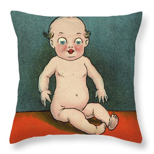Vintage Poster Throw Pillow featuring the drawing Everybody's Doing It, Is This Any Of Your Doing by English School
