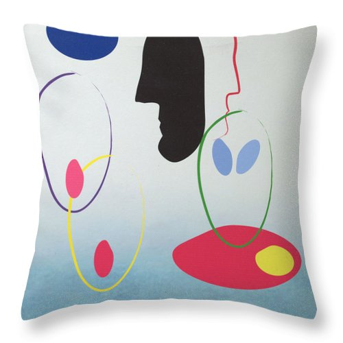 Digital Artwork Throw Pillow featuring the digital art Everyones Talking And No One's Listening by J R Seymour