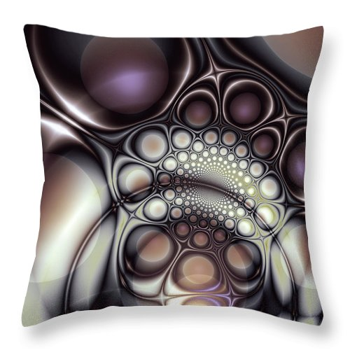 Abstract Throw Pillow featuring the digital art Everything In Its Place by Casey Kotas
