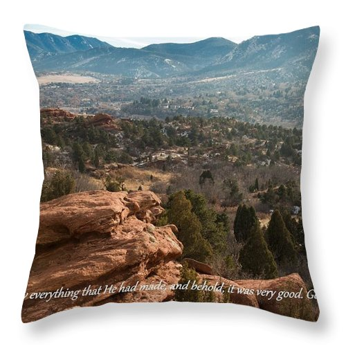 Christianity Throw Pillow featuring the photograph Everything That He Had Made by Elena Shumilova