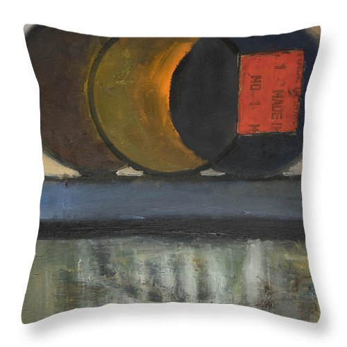 Abstract Throw Pillow featuring the painting Everything Tries To Be Round by Craig Newland