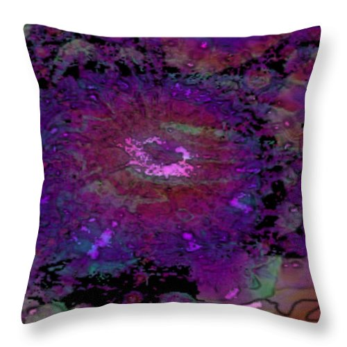Fractal Throw Pillow featuring the digital art Eves Apple by Charmaine Zoe