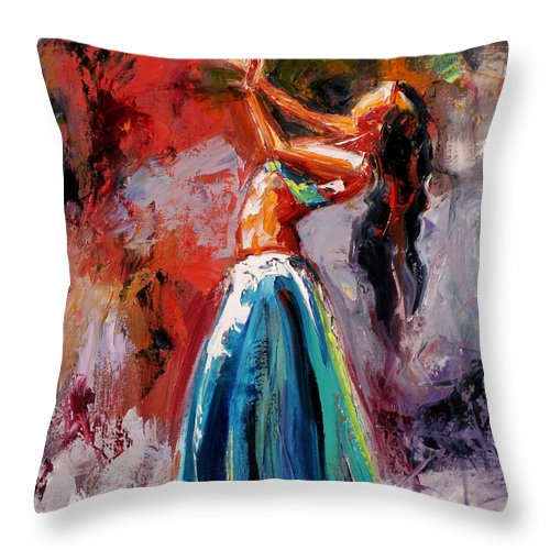 Dance Art Throw Pillow featuring the painting Eve's Dance by Debra Hurd