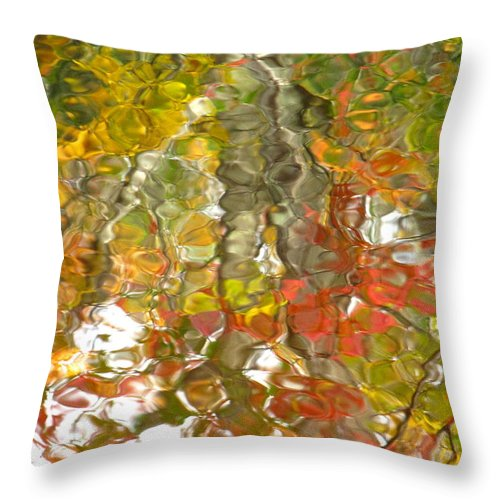 Water Art Throw Pillow featuring the photograph Evidence Of Joy - Feel by Sybil Staples