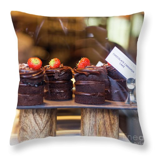 Cakes Throw Pillow featuring the photograph Evil Love by Alex Art and Photo
