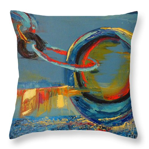 Abstract Painting Throw Pillow featuring the painting Evolving Sense by Patricia Awapara