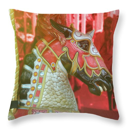 Horse Throw Pillow featuring the photograph Excalibur by JAMART Photography