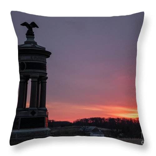 Excelsior Brigade Throw Pillow featuring the photograph Excelsior Sunrise 2 by Kat Zalewski-Bednarek