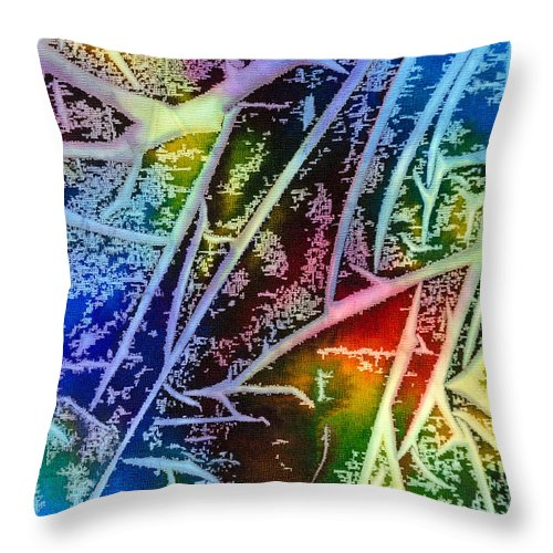 Abstract Throw Pillow featuring the painting Expanding Awareness - A - by Sandy Sandy