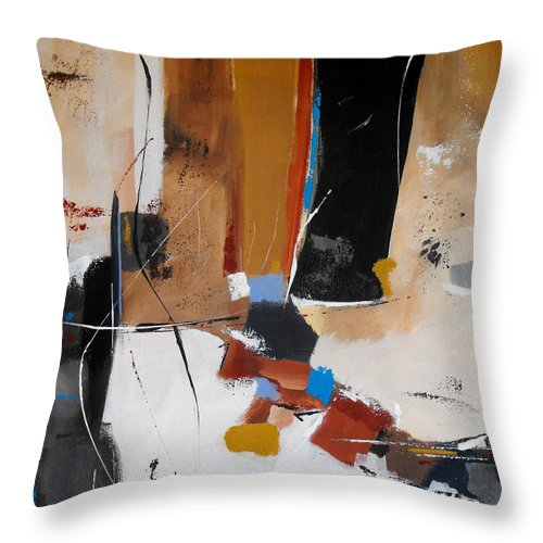 Abstract Throw Pillow featuring the painting Expectations by Ruth Palmer