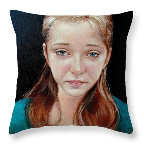 Sadness Throw Pillow featuring the painting Experience Of Loss 2004 by Jerrold Carton