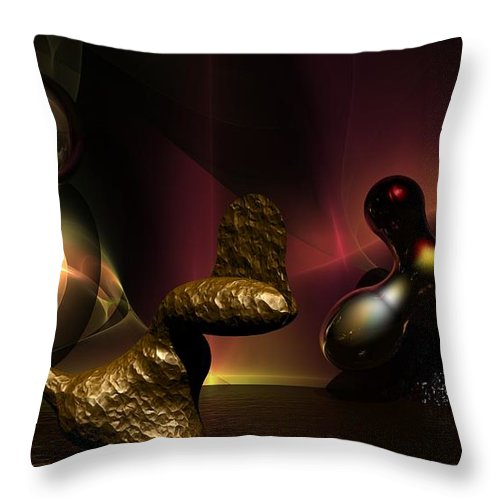 Fantasy Throw Pillow featuring the digital art Experiment In Dementia by David Lane