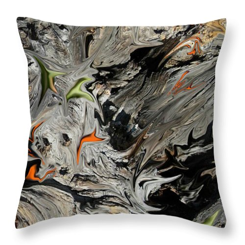 Abstract Throw Pillow featuring the digital art Experiment in Turmoil by Stephanie H Johnson