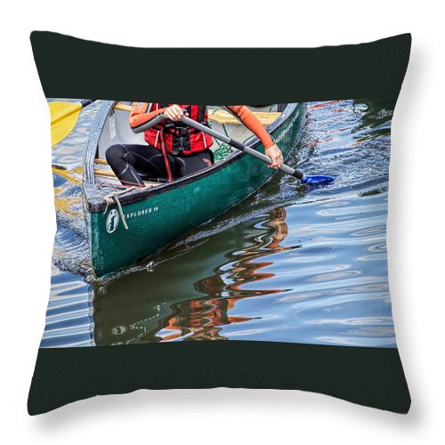 Exeter Throw Pillow featuring the photograph Exploring Along The Exeter Canal by Susie Peek