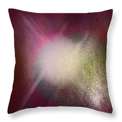 Abstract Throw Pillow featuring the digital art Explosion by John Krakora