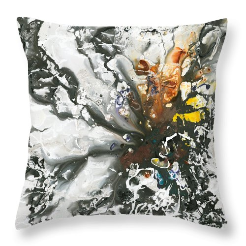 Rust Throw Pillow featuring the painting Explosion of Joy by Nadine Rippelmeyer