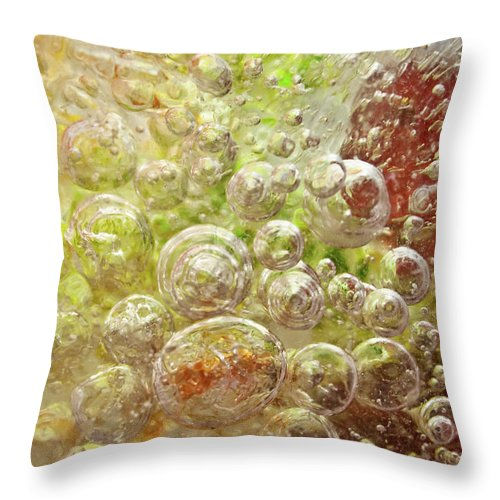 Abstract Throw Pillow featuring the photograph Explosion by Shannon Workman