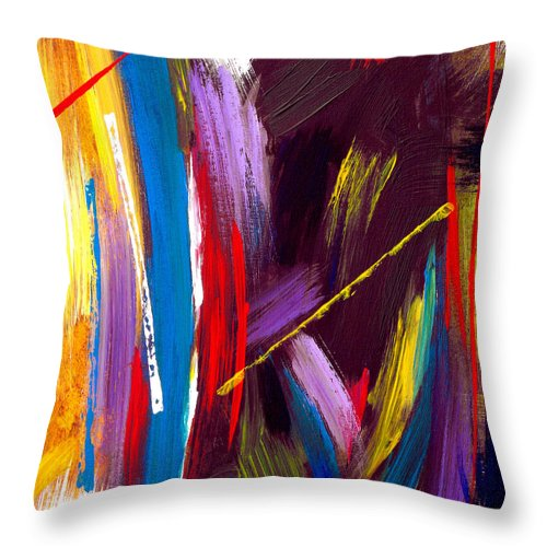 Abstract Throw Pillow featuring the painting Express Yourself by Ruth Palmer