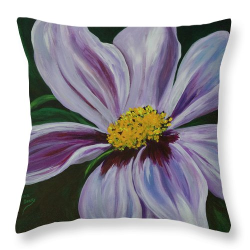 Floral Throw Pillow featuring the painting Exquisite by Donna Drake