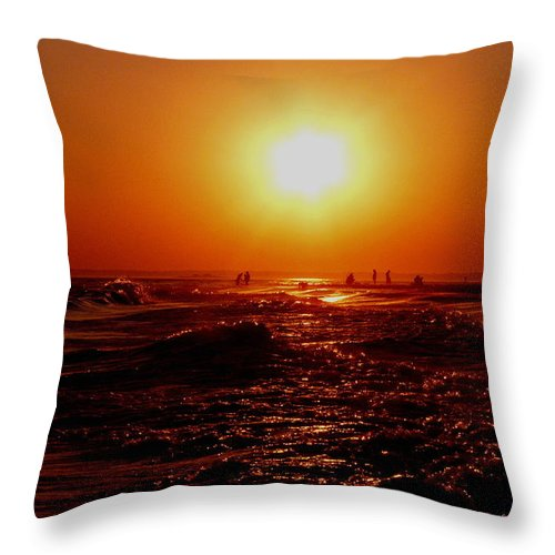Beach Throw Pillow featuring the photograph Extreme Blazing Sun by Kendall Eutemey