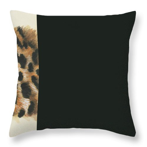 Big Cat Throw Pillow featuring the painting Eye-catching Jaguar by Barbara Keith