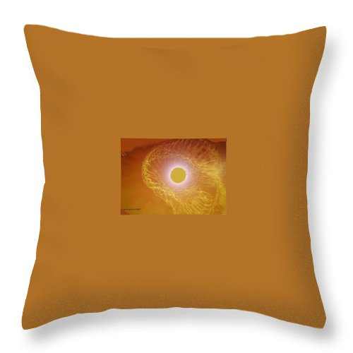 The Powerful Gaze Of The Almighty. Destroying Evil With His Almighty Sight. Throw Pillow featuring the digital art Eye Of God by Seth Weaver