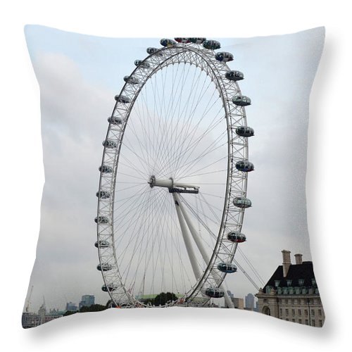 Eye Of London Throw Pillow featuring the photograph Eye Of London I by Dawn Crichton