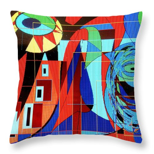 Eye Throw Pillow featuring the digital art Eye Of The Tiger by Ian MacDonald
